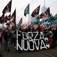 The march to celebrate the independence was attended by many ordinary polish people and also by extreme-right movements such as ONR from Poland and Forza Nuova from Italy
