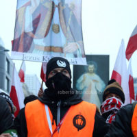 The march to celebrate the independence was attended by many ordinary polish people and also by extreme-right movements such as ONR from Poland and Forza Nuova from Italy. The motto of the march was God, Honour and Homeland